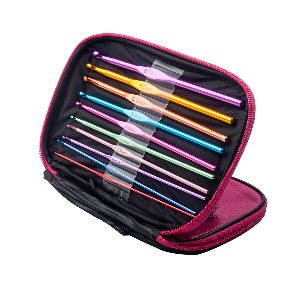 22 PCS DIY Knitting Needles Crochet Hook Set With Yarn accessories sewing tools Agulhas De Croche A Gift For Mom Sewing in Sewing Needles from Home Garden