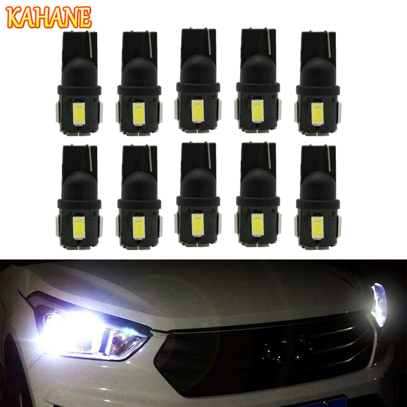 KAHANE 10x T10 LED W5W Car License Plate Lamp DRL Wedge Parking Light FOR VW T5 Golf Pas ...