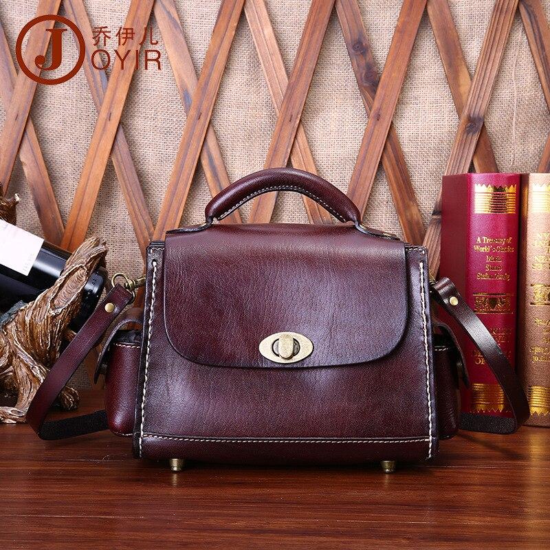 free shipping vintage genuine leather women's handbag vegetable tanned leather women's bag one shoulder bag