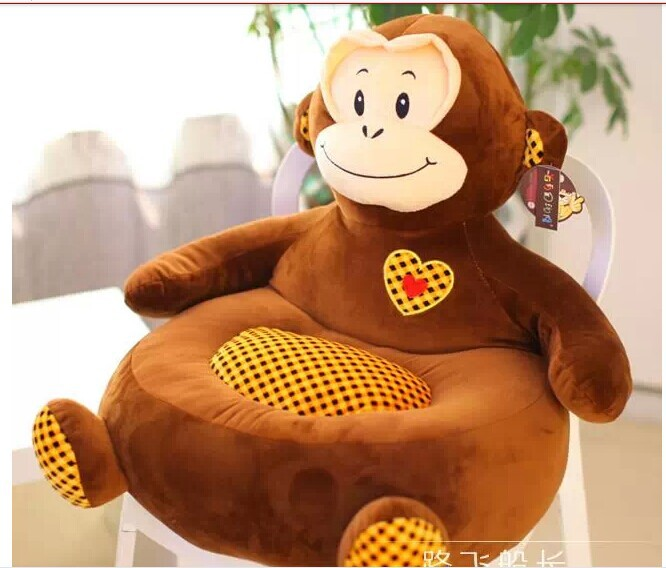 creative children sofa toy lovely plush cartoon monkey sofa toy birthday gift about 50x45x15cm brown creative dump monkey falling toy tumbling monkeys party