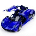 1/32 Scale Blue Alloy Pagani Zonda Pull Back Toy Diecast Model CarWith Llight&sound Collectible Gift For Kids Without Battery