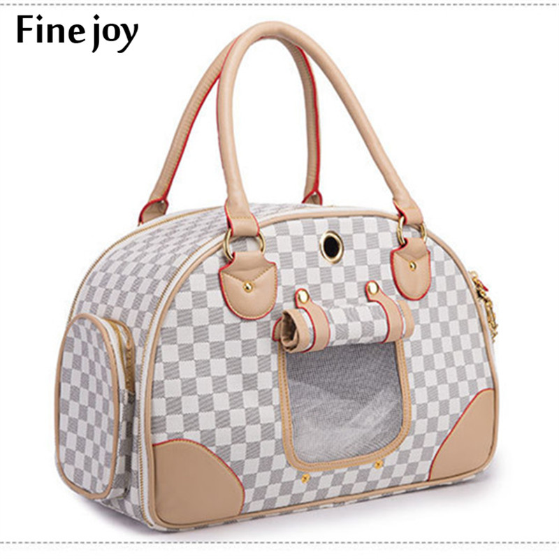 Fine Joy Pet Supplies Dog Cat Carrier Bag Travel Carrier Tote Luggage Bag Handbag Portable Shoulder Bag