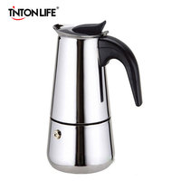 TINTON LIFE 2/4/6/9 Cups Stainless Steel Moka Espre sso Latte Percolator Stove Top Coffee Maker Pot Coffee Makers