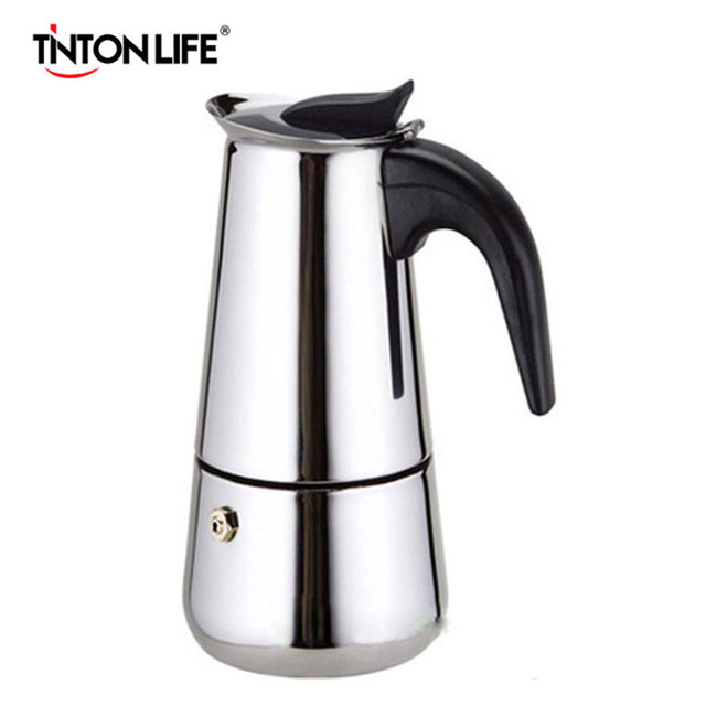 TINTON LIFE 2/4/6/9 Cups Stainless Steel Moka Espre sso Latte Percolator Stove Top Coffee Maker Pot