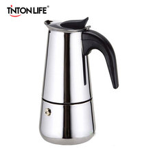 TINTON LIFE Hot Sale 2/4/6/9 Cups Stainless Steel Moka Espre sso Latte Percolator Stove Top Coffee Maker Pot