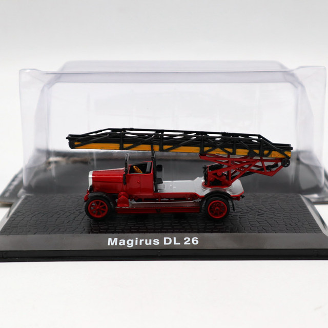 Atlas 1/72 Magirus DL 26 Fire Engine Diecast Models Toys Car Limited Edition Collection Red