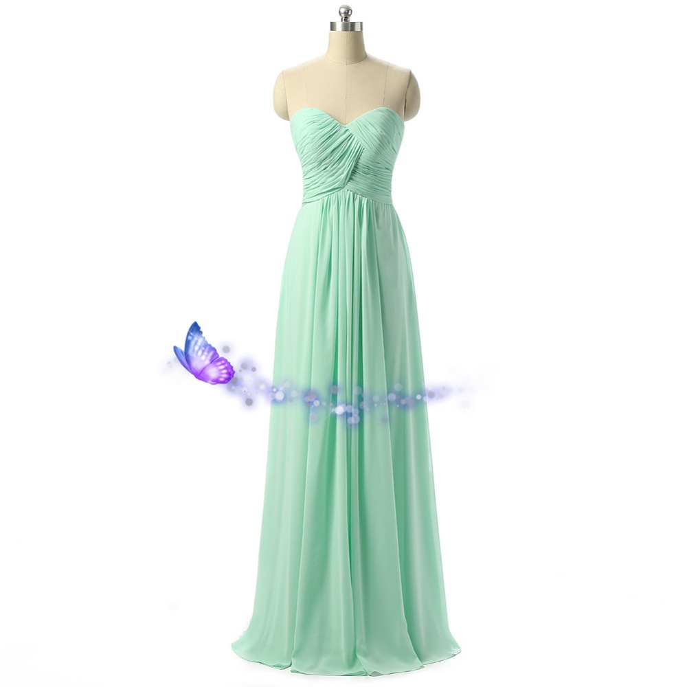 Robe Demoiselle D Honneur Long Mint Green Bridesmaid Dresses 2016 Vestido Longo Cheap New Fashion Weddings