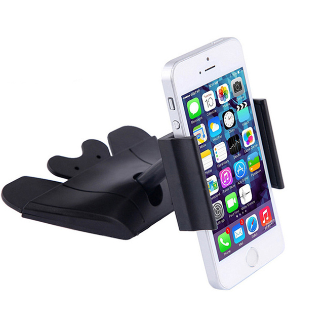 pretty nice caeb5 ab451 US $7.87 5% OFF|Universal car cd holder for iphone 6 plus mobile phone 360  degrees mount holder for iphone samsung soporte movil car GPS-in Mobile ...