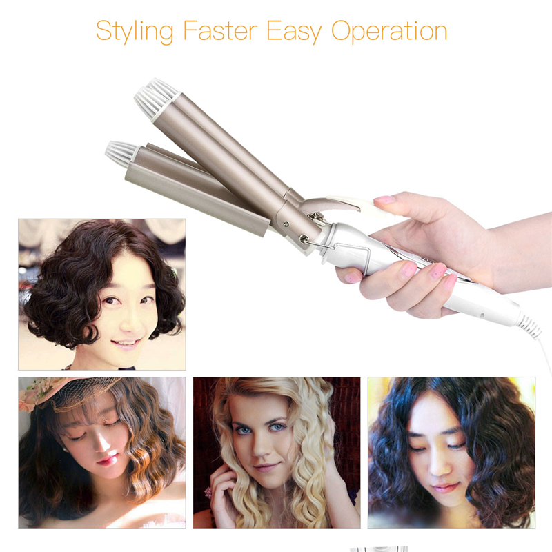3 Barrel Clamp Hair Curlers Rollers Adjustable Hair Curling Irons Curling Wand Wave Electric Waver Women Beauty Hair Syling Tool