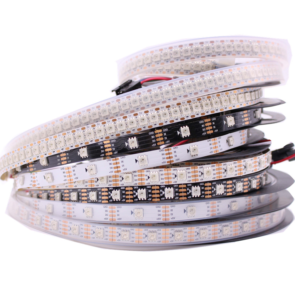 WS2813 led pixel strip 1m/4m/5m Dual-signal 30/60/144 pixels/leds/m,WS2812B Updated Black/White PCB,IP30/IP65/IP67 DC5V палантины stilla s r l палантин