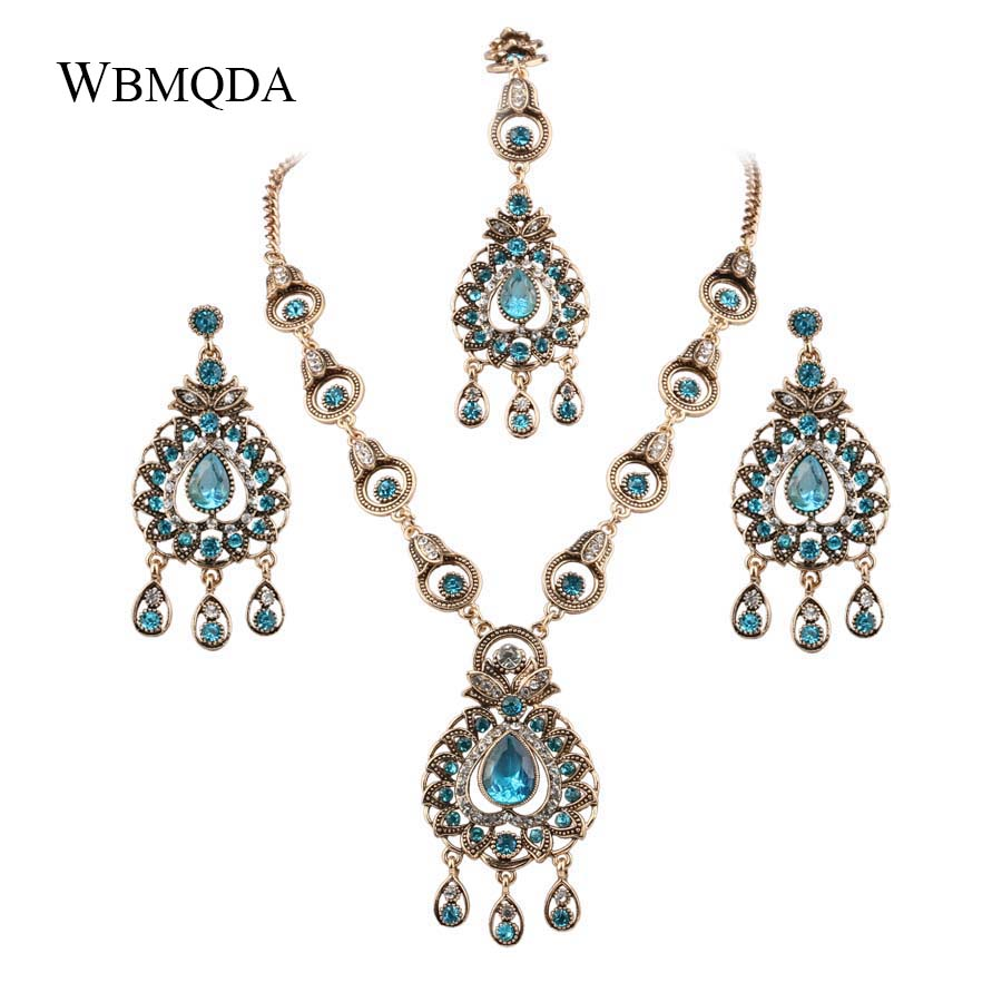 Bridal-Jewelry-Sets Necklace Earrings Ethinc-Accessories Peacock Indian Bohemian Women
