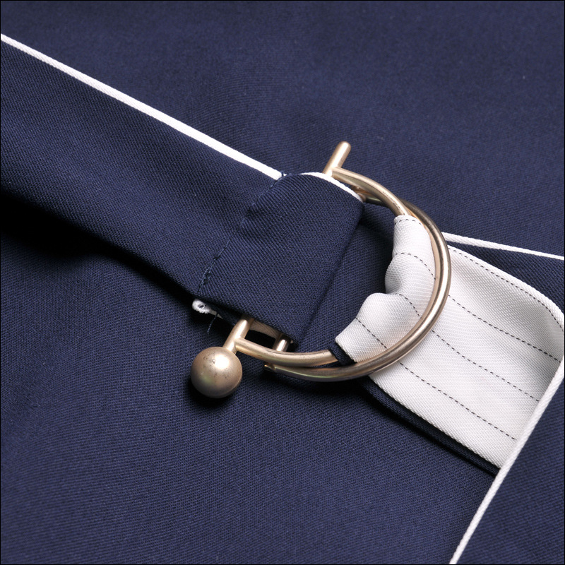 17047 Taille Sangle Blanc Robe Sexy Femmes De Marque L'europe Printemps A Multi V Robes Annroot Marine Femelle Automne Rayé ligne cou qHPwanZt