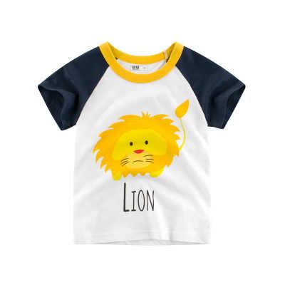 Loozykit été enfants garçons T-shirt couronne impression à manches courtes bébé filles T-shirts coton enfants T-shirt col rond T-shirt hauts garçon tissu