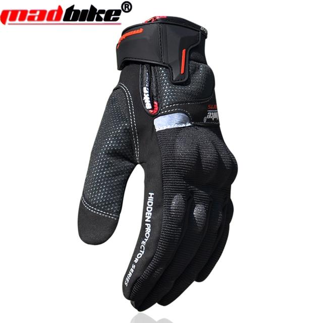 Guantes de moto impermeable a prueba de viento caliente hombres moto guantes moto racing guantes montando luvas guanti negro l xl