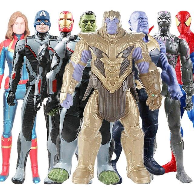 30 centímetros Brinquedos Vingadores Thanos Hulk Wolverine Marvel Homem Aranha Homem De Ferro Capitão América Thor Action Figure Boneca Pantera Negra brinquedo