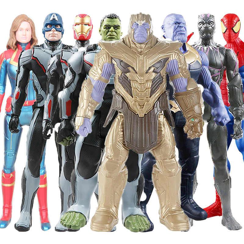 30 см Мстители игрушки танос Халк Росомаха Человек-паук Железный человек Марвел Капитан Америка Черная пантера Тор фигурка кукла игрушка