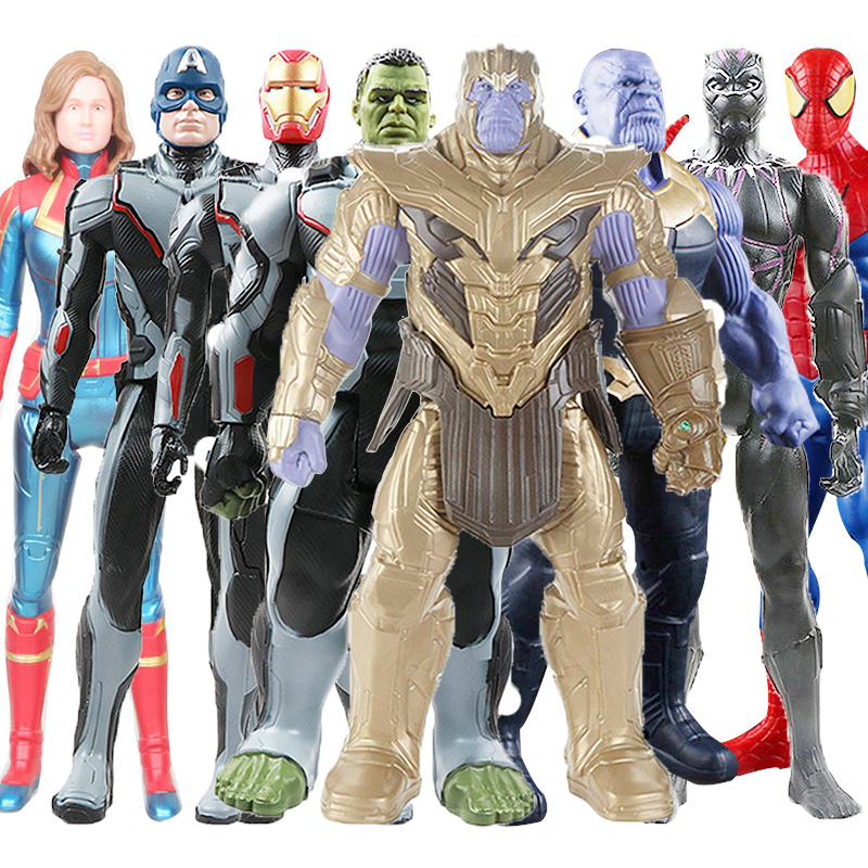 new-30cm-font-b-avengers-b-font-endgame-thanos-hulk-spider-iron-man-captain-marvel-america-black-panther-thor-action-figure-toy-doll-for-kids