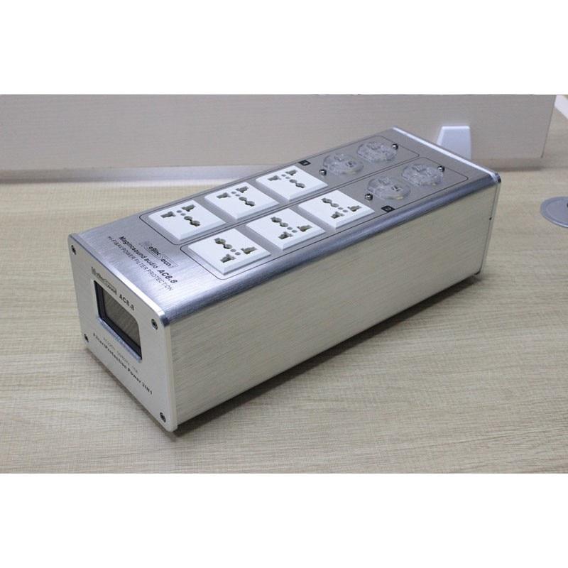 Weiduka AC8.8 3000W 15A Advanced Audio Power Purifier Filter AC Power Socket -Silver ac8 8 3000w 15a audio power purifier filter ac power socket