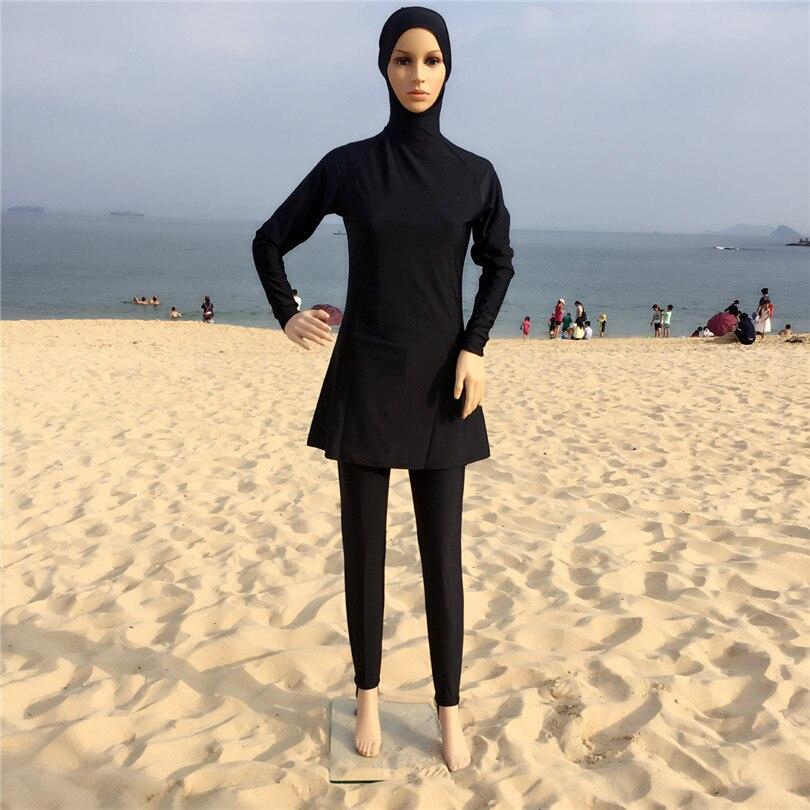 Turkish Hijab Stili Pieno Coperto Musulmano Costumi da bagno Nuoto  Abbigliamento Maillot De Bain Hijab Islamico Donne Abaya Islamico Costume  Da Bagno in ... c726283d59f1