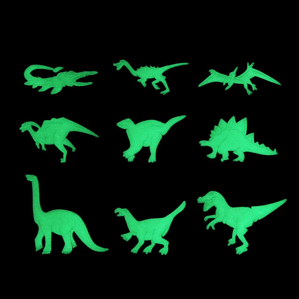 Glow In The Dark Dinosauri Giocattoli Adesivi Soffitto Della Decalcomania 3D Fluorescente Stanza Del Capretto Del Bambino del PVC Sticker Home Giocattoli per I Bambini scherza il Regalo