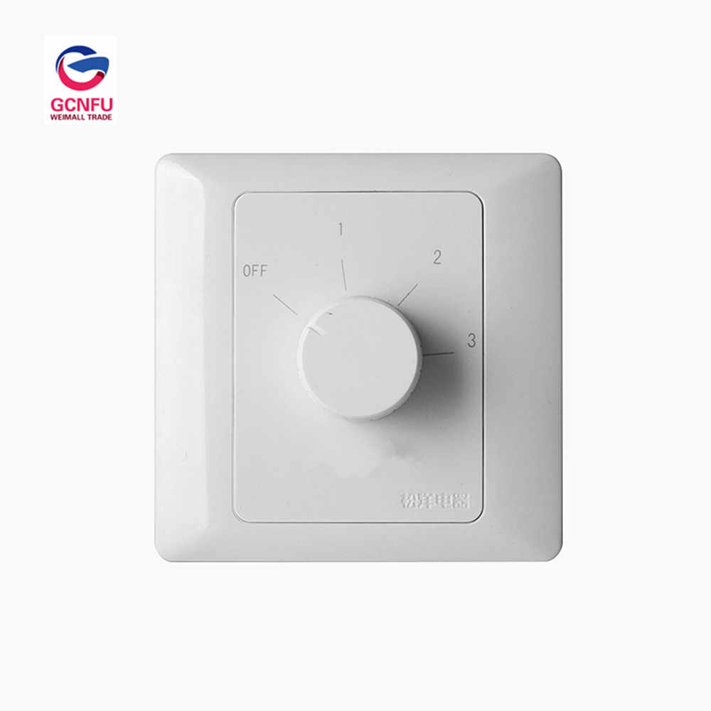 Wholesale High Quality Central Air Conditioner Fan Switch Temperature Controller Wall Switch Temperature Control Panel 86 Type