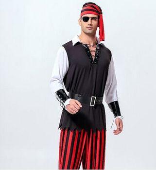 Disfraz de pirata del Caribe, disfraz de pirata para fiesta de halloween para hombre, ropa de Carnaval con temática de pirata