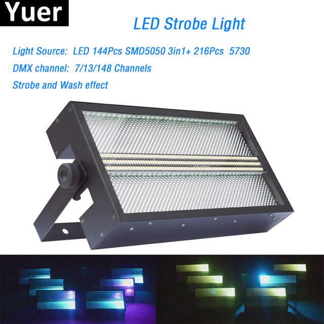 Stage effect lighting LED Super Bright Strobe Light RGB 3in1 led lamp led wash strobe 2in1 With Color Mix for dj light disco dmx