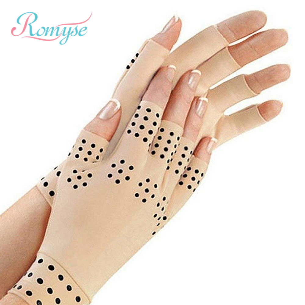 1Pair Magnetic Therapy Gloves Wrist Support Anti Arthritis Hand Protector Health Care Compression Braces For Men And Women