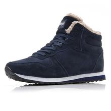 Mężczyźni Buty 2018 High Top sneakers na zimowe buty ciepłe casual Buty Mężczyźni Plus Rozmiar 35-46 mocassin Homme Designer Krasovki mężczyźni tanie tanio Dorosłych buty na co dzień Krótki pluszowy Sznurowane Podstawowe C NEW S Gumowe 151810 (1M Pluszowe Pasuje do rozmiaru Weź swój normalny rozmiar