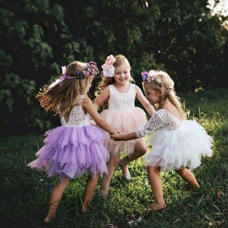 Summer Girl Dress White Scallop Girls Little Girls Princess Dress Tutu Fluffy 2 3 4 5 6 Years Children Casual Wear Kids Clothes 6