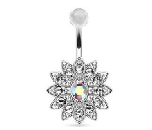 2019 Grillz Septum Hit The Belly Button Ring Flower Navel Buckle Body Piercing Jewelry Umbilical Acts Role Of 3 Color Optional