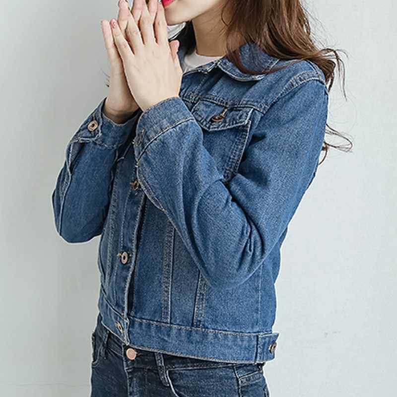 ... EXOTAO 2017, новая мода тонкий короткие джинсовые куртки для женщин с  длинным рукавом Осень Chaquetas ... d73bbb27a1d