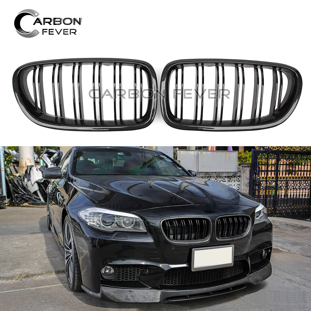 F10 F11 ABS / Carbon Fiber Front Bumper Kidney Grille For BMW 5 Series F10 M5 F11 2010 - 2017