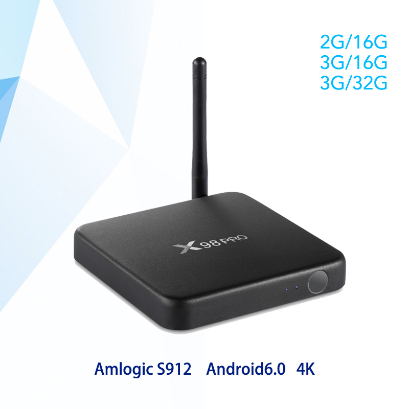 X98 PRO Metal Case Amlogic S912 Octa Core Android smart TV Box 3GB 32GB 2.4G/5GHz Wifi 4K HDR10 Media player X98pro top mi box