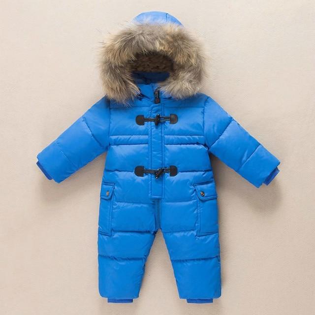 Winter Fur Hooded Snowsuit for Babies 3