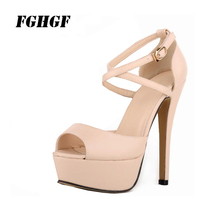 FGHGF WomenS High Heels Summer Comfortable Wear Fashion Buckle Strap Peep Toe Rubber Casual