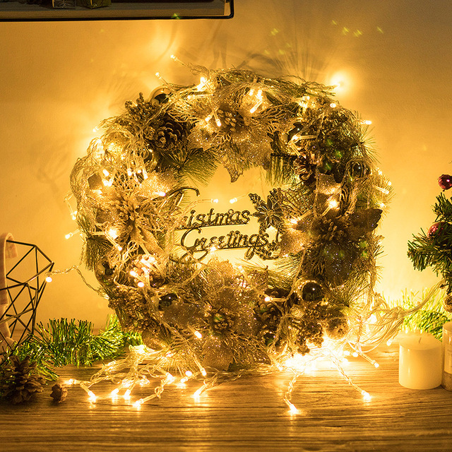 2019 Christmas Wreath Decoration Accessories Xmas Ornaments Garland