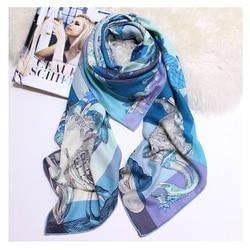 Luxe Zijde Kasjmier Sjaal Voor Vrouwen Print Grote Hijab Sjaals Hand Gerold 140*140 cm Vierkante Sjaals Hoofddoek Sjaals voor Dames 2019