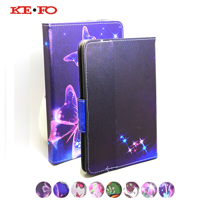 KeFo PU Leather Stand Cover For 7 Digma Plane 7546S 3G PS7158PG Tablet Case For Tablet 7 inch Universal+Pen Stylus+Center Film