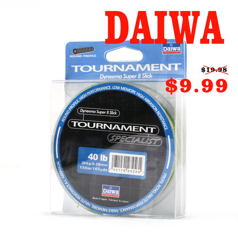 DAlWA 150M 8 braided PE fishing Line For Fishing DAWA 0.1~0.4mm 8 Silck Japan fishing line