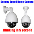 Outdoor Dummy Fake Speed Dome Security CCTV Camera Surveillance Blinking RED LED Lamp cam