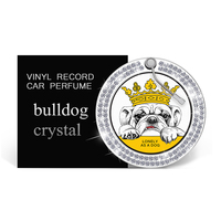 Creative Bulldog Car Perfume Fragrance bling crystal car air freshener Auto outlet Solid Scent Diffuser Interior Decoration