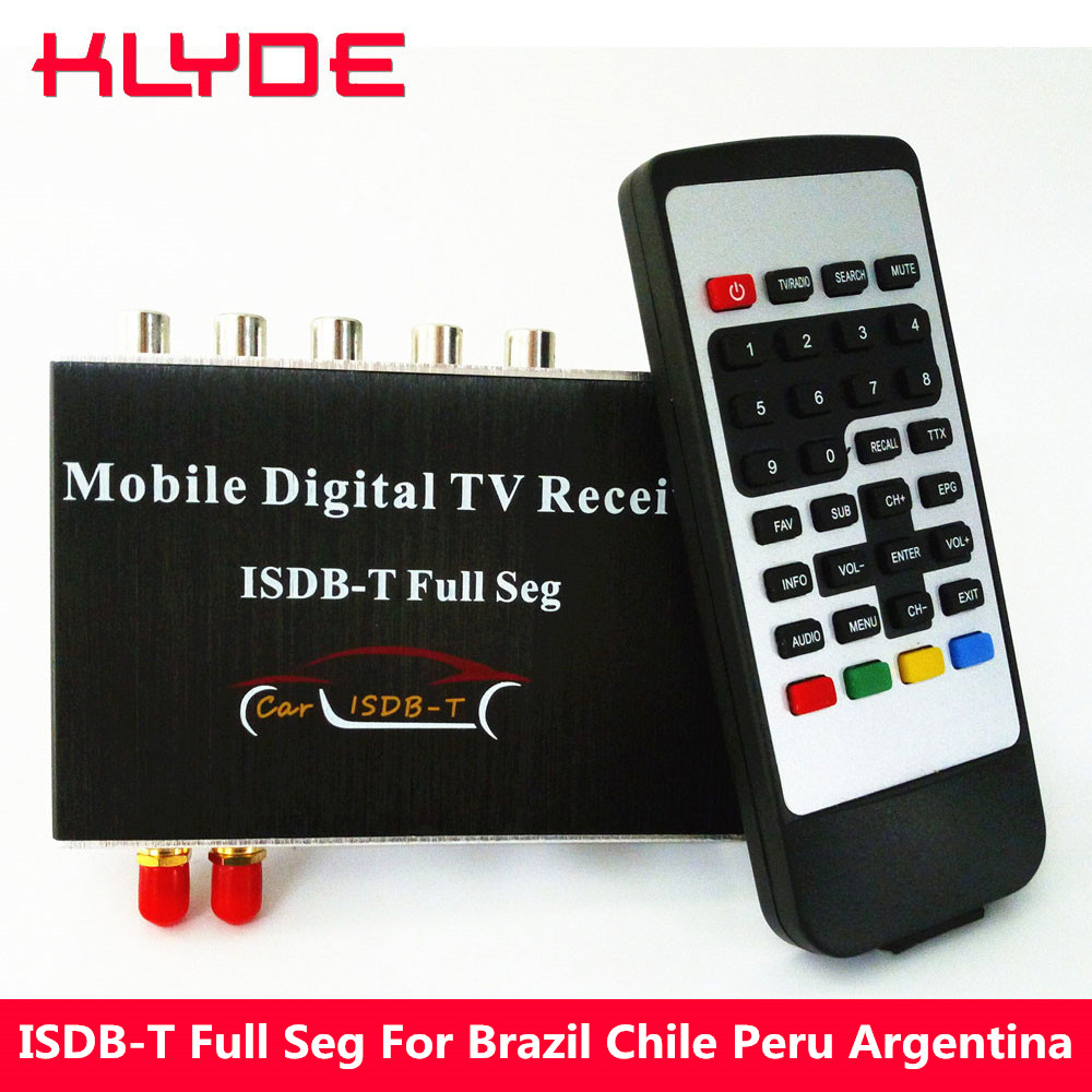 KLYDE ISDB-T Full SEG Digital TV Receiver Box For Brazil Chile Peru Argentina Philippines Support EPG HDMI USB Slot 140-190KM/H m 389f car tv tuner isdb t full seg digital tv box receiver mini tv box work in philippines south america