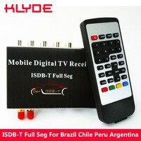 KLYDE ISDB T Full SEG Digital TV Receiver Box For Brazil Chile Peru Argentina Philippines Support EPG HDMI USB Slot 140 190KM/H