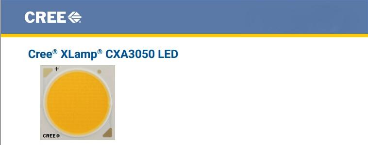 2pcs/lot US.CREE CXA 3050 Beads 100W High Power LED Chip 2700~3000K@5000~6500k Pure white/Warm White cxa 0488 pcu p280b cxa 0547 high pressure plate inverter
