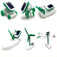 Solar Power Electric Model Building Kits Blocks DIY Car Dog Boat Airplane Windmill Fun Educational Puzzle Toys for Kids Children