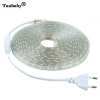Tanbaby 220V LED Strip Light 5050 SMD 60 LED M IP67 Waterproof Outdoor Indoor Decoration Lighting