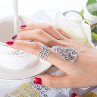 GODKI 925 Sterling Silver Luxury Mirco Pave Cubic Zirconia With Long Star Tassel Ring For Women