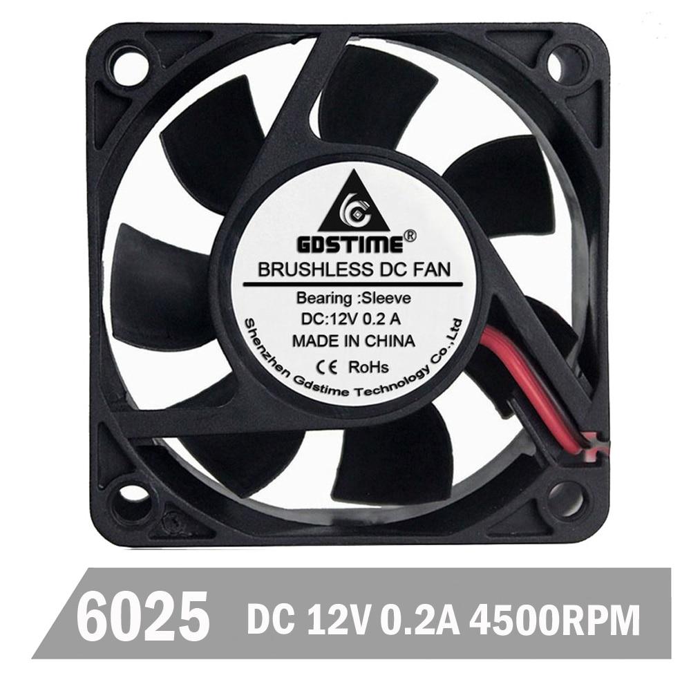 PC Computer VGA Video Graphics Card Cooler Heatsink Cooling Fan 2Pin 60mm Silent