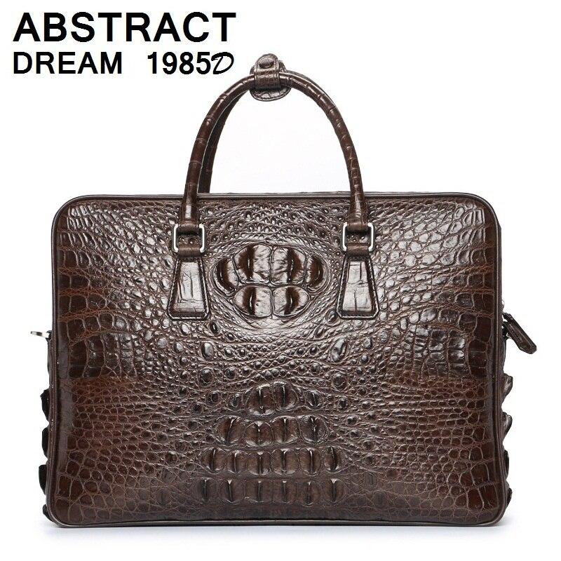Модные Винтажные мужские сумки из натуральной крокодиловой кожи сумка мужская высокого класса бизнес роскошная сумка качества случайные к